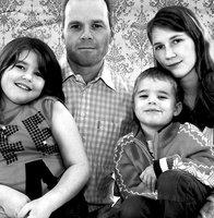 Familj porträtt